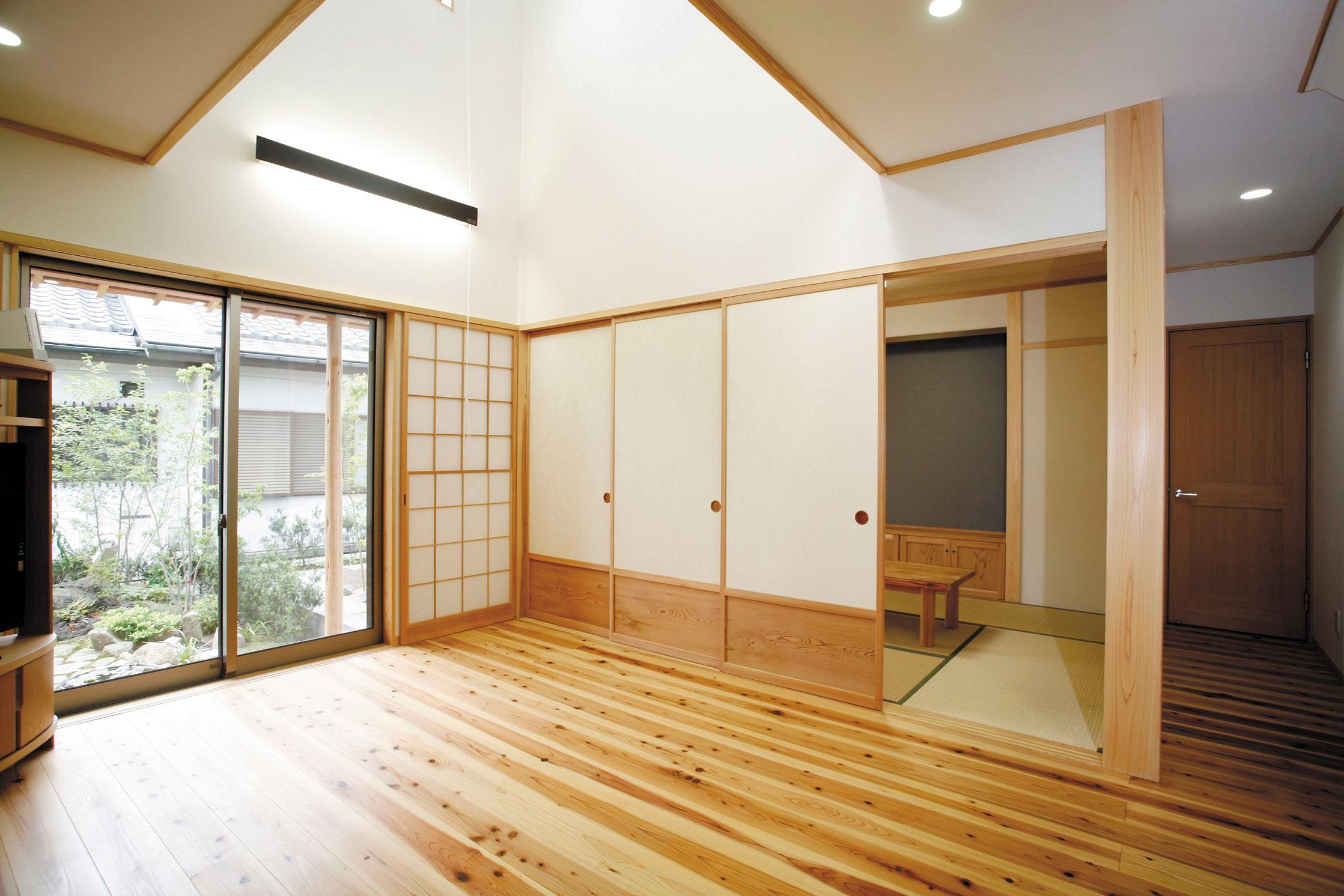 【和モダン】四季を感じる 庭のある家【造園】