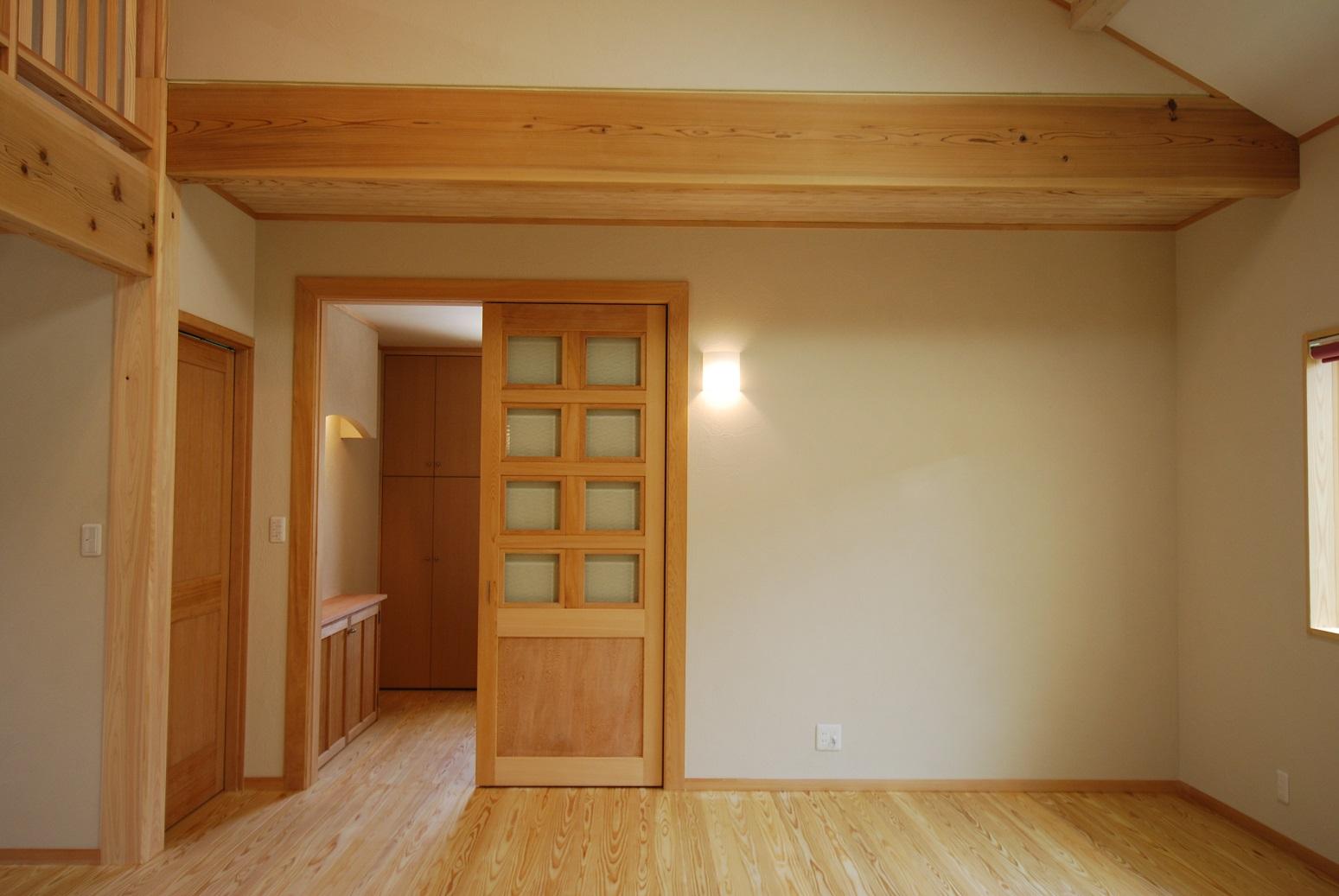 【造作建具】LDKになじむ銘木造作建具【和モダン】